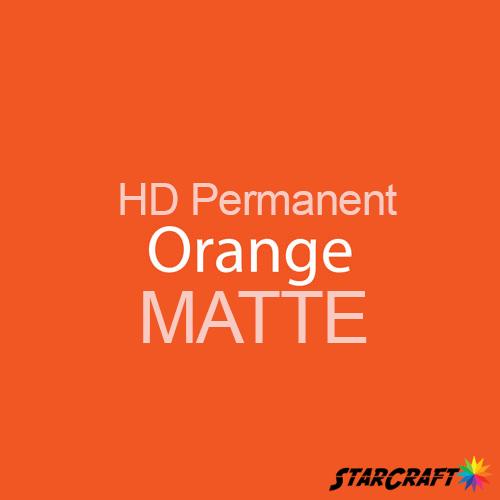 "StarCraft HD Permanent Adhesive Vinyl - MATTE - 12"" x 12"" Sheets - Orange"