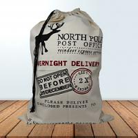 Santa Sack - Overnight Delivery - Cream