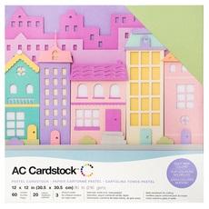 "American Crafts Textured Cardstock 60pk - Pastels 12""x 12"""