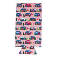 Can Cooler - Tall - Pink Camper