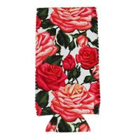 Can Cooler - Tall -Pink Roses