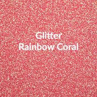 "Siser Glitter Rainbow Coral - 20""x12"" Sheet"