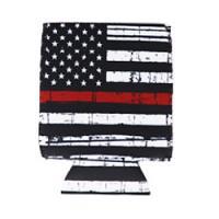 Can Cooler - Standard - Red Line Flag