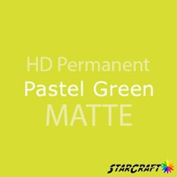 "StarCraft HD Permanent Adhesive Vinyl - MATTE - 12"" x 12"" Sheets - Pastel Green"