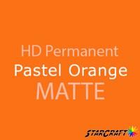 "StarCraft HD Permanent Adhesive Vinyl - MATTE - 12"" x 12"" Sheets - Pastel Orange"
