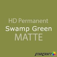 "StarCraft HD Permanent Adhesive Vinyl - MATTE - 12"" x 12"" Sheets - Swamp Green"