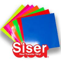 """Siser EasyWeed Fluorescent Color Pack 12"""" X 12"""""""