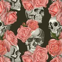 Adhesive  #204 Skulls and Roses