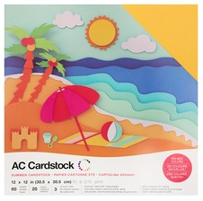 "American Crafts Textured Cardstock 60pk - Summer 12""x 12"""
