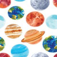 Adhesive  #207 Watercolor Planets