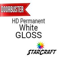 "StarCraft HD Permanent Adhesive Vinyl - GLOSS - 12"" x 12"" Sheets - White - DOORBUSTER"