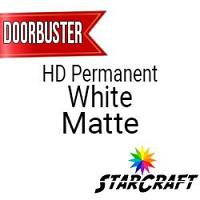 "StarCraft HD Permanent Adhesive Vinyl - MATTE - 12"" x 12"" Sheets - White - DOORBUSTER"