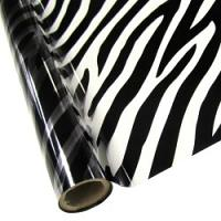 "25 Foot Roll of 12"" StarCraft Electra Foil - Clear Zebra"