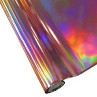 "25 Foot Roll of 12"" StarCraft Electra Foil - Pink Holographic Rainbow"