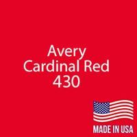 "Avery - Cardinal Red - 430 - 12"" x 12"" Sheet"