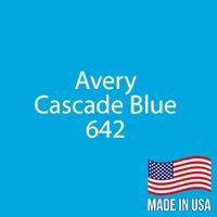 """Avery - Cascade Blue - 642 - 12"""" x 12"""" Sheet"""