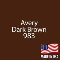 """Avery - Dark Brown - 983 - 12"""" x 12"""" Sheet"""