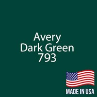 """Avery - Dark Green - 793 - 12"""" x 12"""" Sheet"""