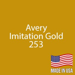 "Avery - Imitation Gold - 253 - 12"" x 5 Foot"