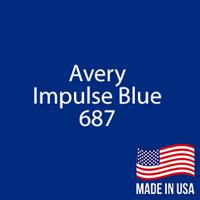 """Avery - Impulse Blue - 687 - 12"""" x 24"""" Sheet"""