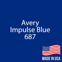 "Avery - Impulse Blue - 687 - 12"" x 12"" Sheet"