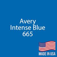 "Avery - Intense Blue - 665 - 12"" x 24"" Sheet"