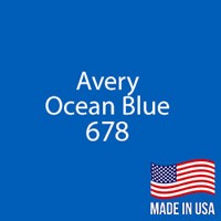 "Avery - Ocean Blue - 678 - 12"" x 24"" Sheet"