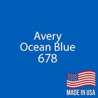 "Avery - Ocean Blue - 678 - 12"" x 12"" Sheet"
