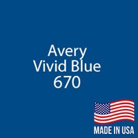 "Avery - Vivid Blue - 670 - 12"" x 24"" Sheet"