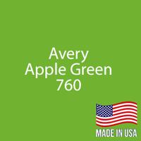 "Avery - Apple Green - 760 - 12"" x 12"" Sheet"
