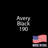 "Avery - Black - 190 - 12"" x 12"" Sheet"