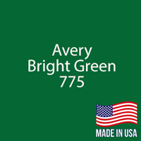"Avery - Bright Green - 775 - 12"" x 12"" Sheet"