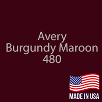 "Avery - Burgundy Maroon - 480 - 12"" x 12"" Sheet"