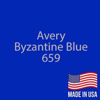 "Avery - Byzantine Blue - 659 - 12"" x 12"" Sheet"