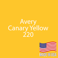 "Avery - Canary Yellow - 220 - 12"" x 12"" Sheet"