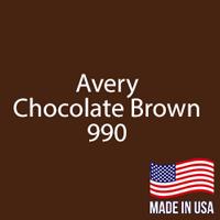 "Avery - Chocolate Brown - 990 - 12"" x 12"" Sheet"