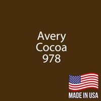 """Avery - Cocoa - 978 - 12"""" x 12"""" Sheet"""