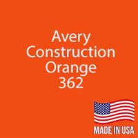 "Avery - Construction Orange - 362 - 12"" x 5 Foot"