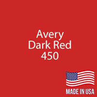 "Avery - Dark Red - 450 - 12"" x 12"" Sheet"