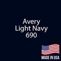 """Avery - LT Navy - 690 - 12"""" x 5 Foot"""
