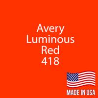 "Avery - Luminous Red - 418 - 12"" x 12"" Sheet"