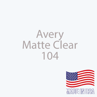 "Avery - Matte Clear - 104 - 12"" x 12"" Sheet"