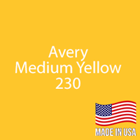 "Avery - Med Yellow - 230 - 12"" x 24"" Sheet"
