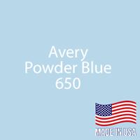 "Avery - Powder Blue - 650 - 12"" x 12"" Sheet"