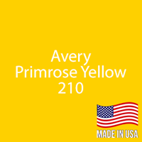 "Avery - Primrose Yellow - 210 - 12"" x 12"" Sheet"