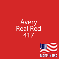 "Avery - Real Red - 417 - 12"" x 12"" Sheet"