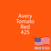 "Avery - Tomato Red - 425 - 12"" x 5 Foot"