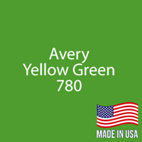 "Avery - Yellow Green - 780 - 12"" x 12"" Sheet"