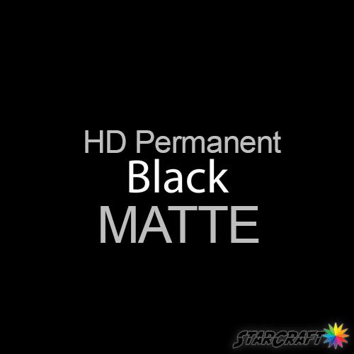 "StarCraft HD Permanent Adhesive Vinyl - MATTE - 12"" x 25 Yard - Black"