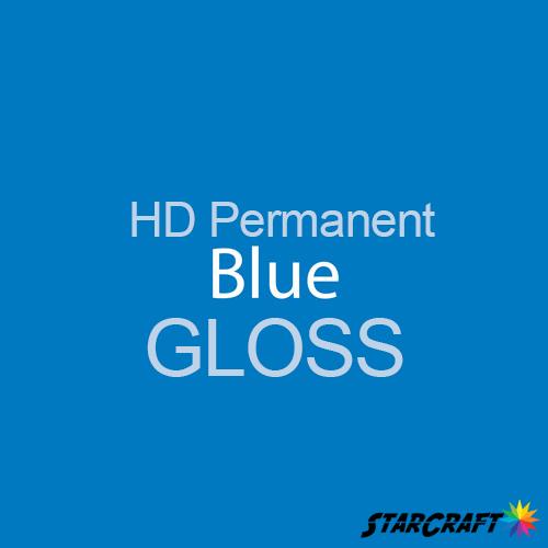 "StarCraft HD Permanent Adhesive Vinyl - GLOSS - 12"" x 5 Foot - Blue"